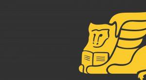 Leone giallo del logo di Infortunistica stradale padova San Marco su sfondo nero lavagna