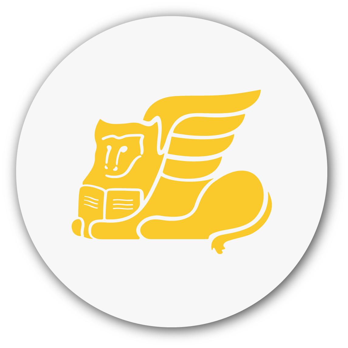 Leone icona infortunistica san marco su forma circolare